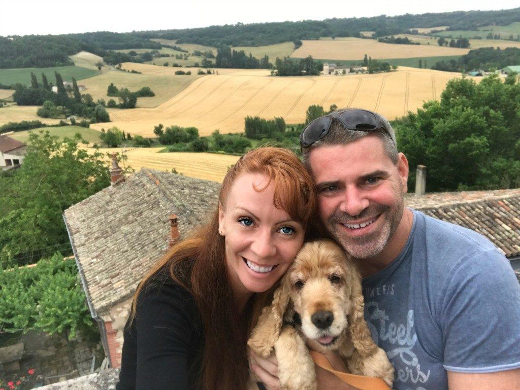 Tegan Clark and Agathe petsitting southern France